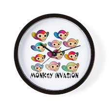 Monkey Invasion Wall Clock