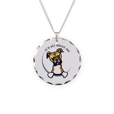 Funny Boxer Necklace Circle Charm