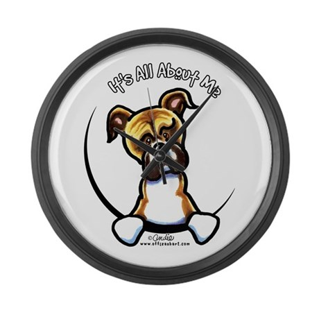 Funny Boxer Large Wall Clock