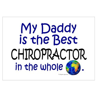 Best Chiropractor In The World (Daddy) Framed Pane Framed Print
