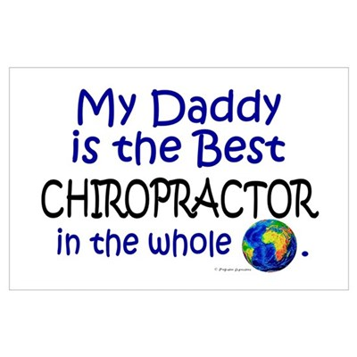 Best Chiropractor In The World (Daddy) Framed Pane Poster
