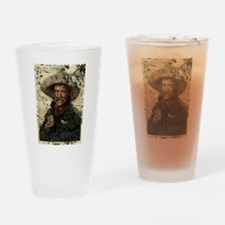 Vintage Cowboy Photo Drinking Glass