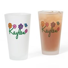Kaylen Flowers Drinking Glass