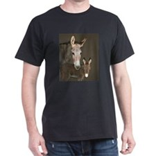 Donkey foal and her mom T-Shirt