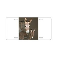 Donkey foal and her mom Aluminum License Plate
