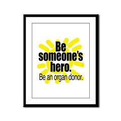 Organ Donor Hero Framed Panel Print