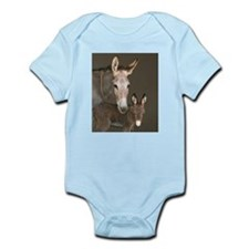 Donkey foal and her mom Infant Bodysuit