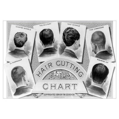 HAIR CUT 11x17 Framed Print