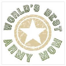 World's Best Army Mom Canvas Art
