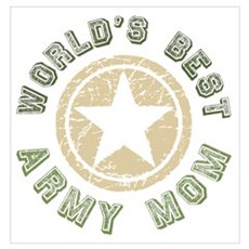 World's Best Army Mom Poster