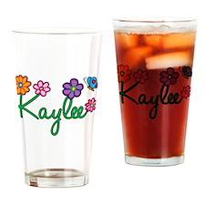Kaylee Flowers Drinking Glass