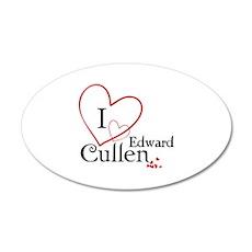 I love Edward Cullen 22x14 Oval Wall Peel