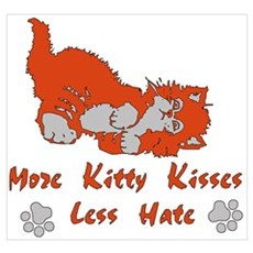More Kitty Kisses Canvas Art