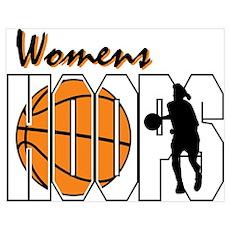 Women's Hoops Poster
