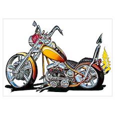 Custom Hardtail Chopper Poster