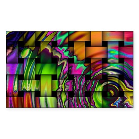 Psychedelic Wonders Sticker (Rectangle)