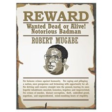 Wanted Mugabe Framed Print