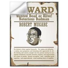 Wanted Mugabe Wall Decal