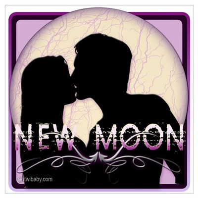 New Moon Midnight Kiss Canvas Art