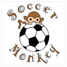 Soccer Monkey Poster