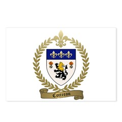COTTREAU Family Crest Postcards (Package of 8)