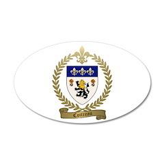 COTTREAU Family Crest 22x14 Oval Wall Peel