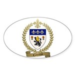 COTTREAU Family Crest Sticker (Oval 10 pk)