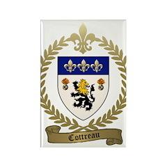 COTTREAU Family Crest Rectangle Magnet