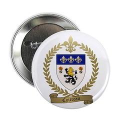 """COTTREAU Family Crest 2.25"""" Button"""