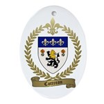 COTTREAU Family Crest Ornament (Oval)