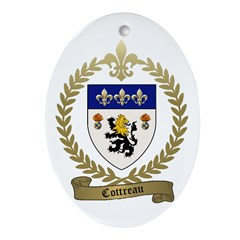 COTTREAU Family Crest Ornament (Oval)