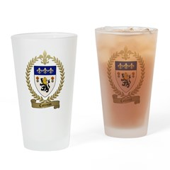 COTTREAU Family Crest Drinking Glass