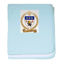 COTTREAU Family Crest baby blanket