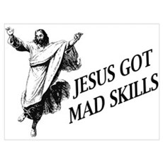 Jesus got mad skills Canvas Art