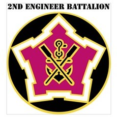 DUI - 2nd Engineer Bn with Text Poster