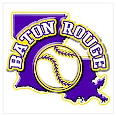 Baton Rouge Baseball Poster