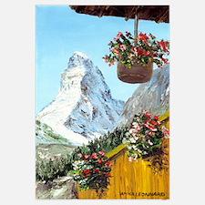 Matterhorn with flowers