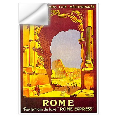 Vintage Rome Express Train Deluxe Prin Wall Decal