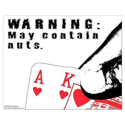 Warning: May contain nuts. Poster