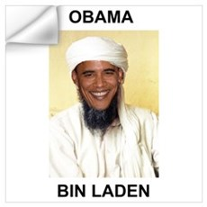 Obama Bin Laden Wall Decal