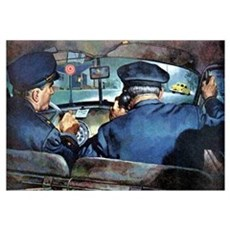 Vintage Police Canvas Art