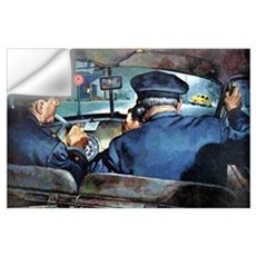 Vintage Police Wall Decal