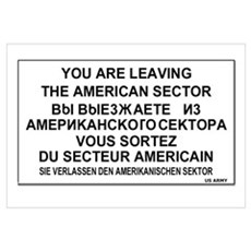Leaving The American Sector Canvas Art