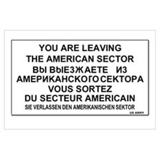 Leaving The American Sector Poster