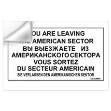 Leaving The American Sector Wall Decal