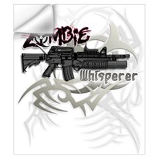 Zombie Whisperer Hunter M16 Wall Decal