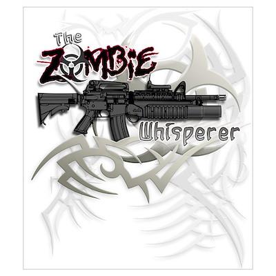 Zombie Whisperer Hunter M16 Poster