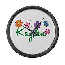 Kayden Flowers Large Wall Clock