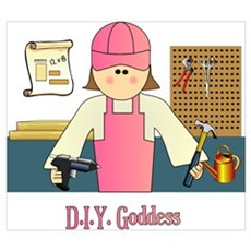 D.I.Y. Do It Yourself Goddess Canvas Art