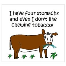 FOUR STOMACHS NO TOBACCO CHEW Poster